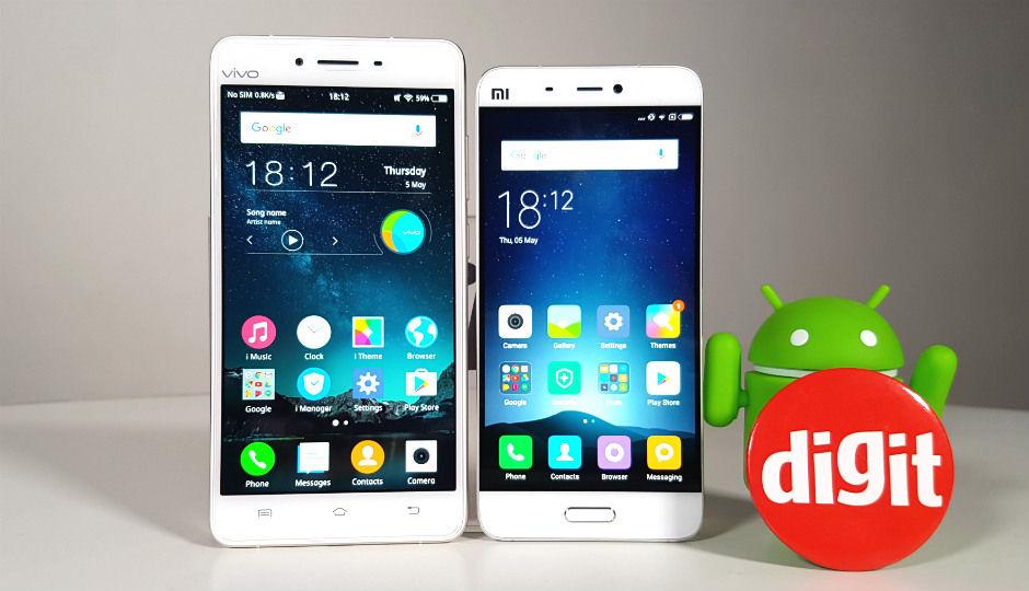 Comparison Xiaomi Mi 5 V Vivo V3 Max Digit In