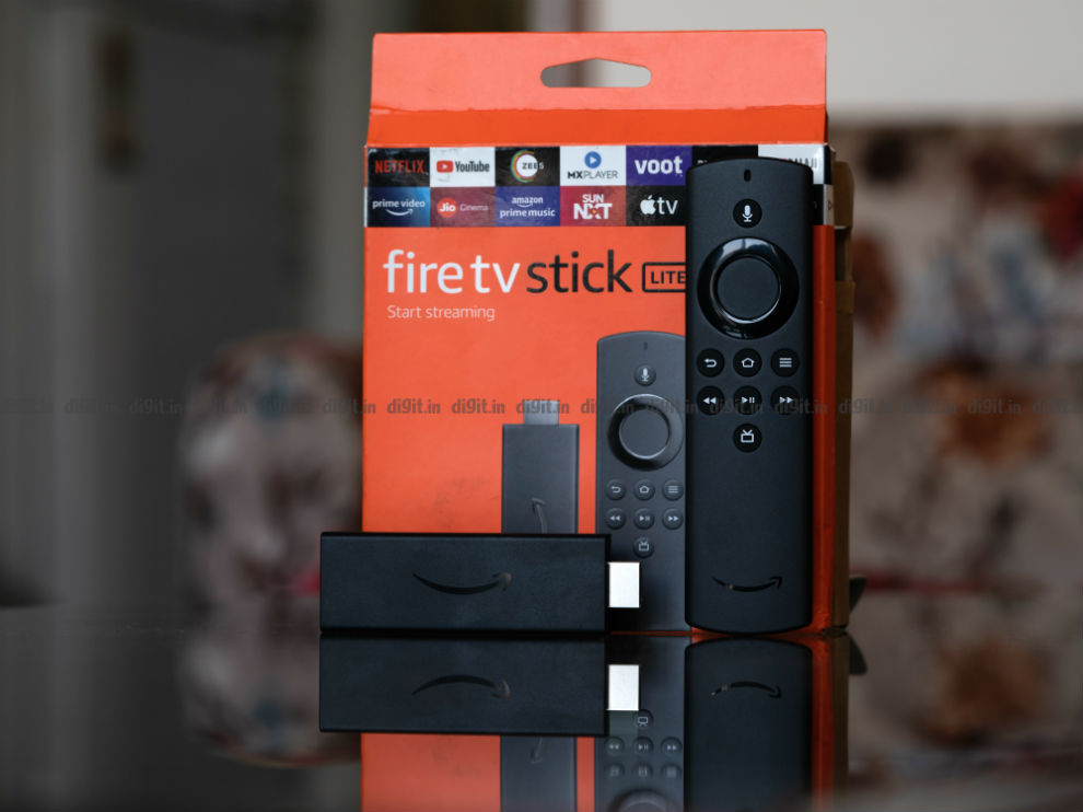 The Fire TV Stick box is familiar as ever.