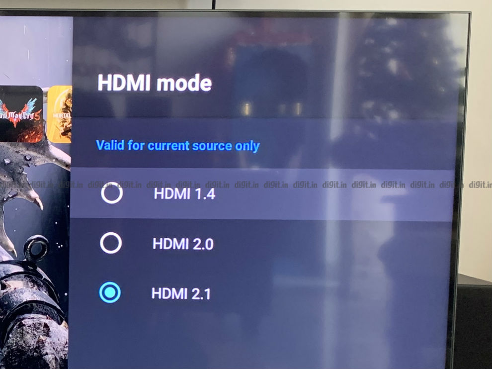 The Mi QLED TV supports HDMI 2.1.