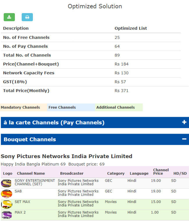 85d5497611f This is the reduced bill after using the Optimse function in TRAI s channel  selection web app