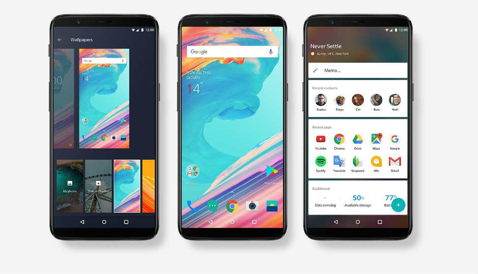 OnePlus 5T has a 6.01-inch full-HD+ (1080x1920 pixels) AMOLED screen