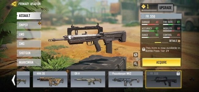 Call of Duty: Mobile New weapons