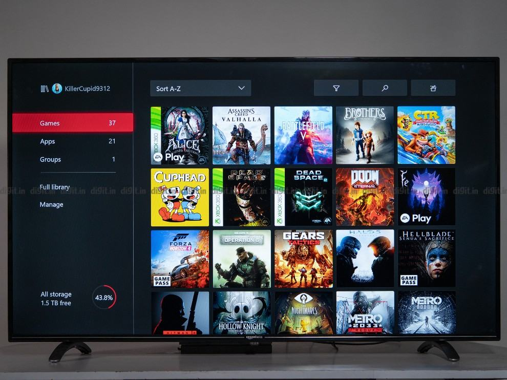 Gaming on the AmazonBasics 55-inch TV
