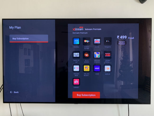 Airtel Xstream app on the Fire TV Stick