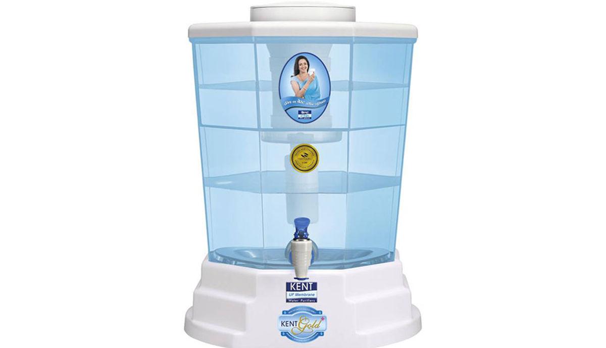 Kent GOLD+(11015) 20 L Gravity Based Water Purifier (White & Blue)