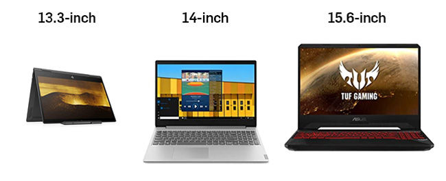 Laptop sizes