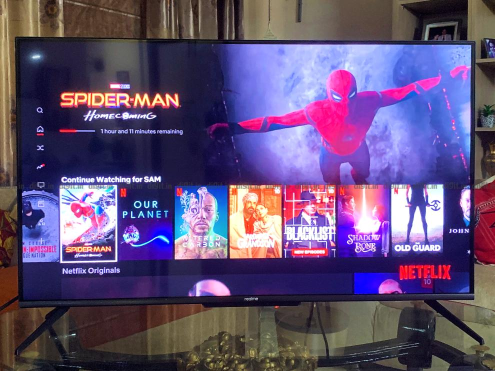 You can play Netflix directly on the TV.