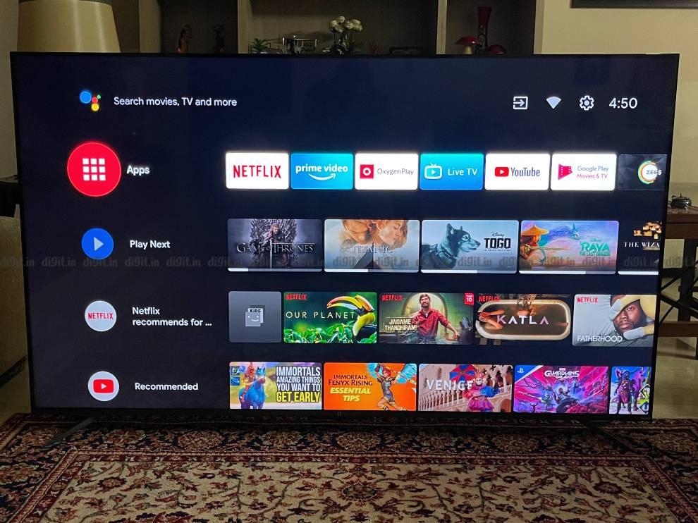 The OnePlus U1S runs on Android TV UI.