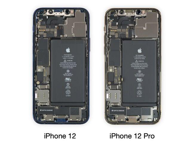 Apple iPhone 12 vs iPhone 12 iFixit teardown
