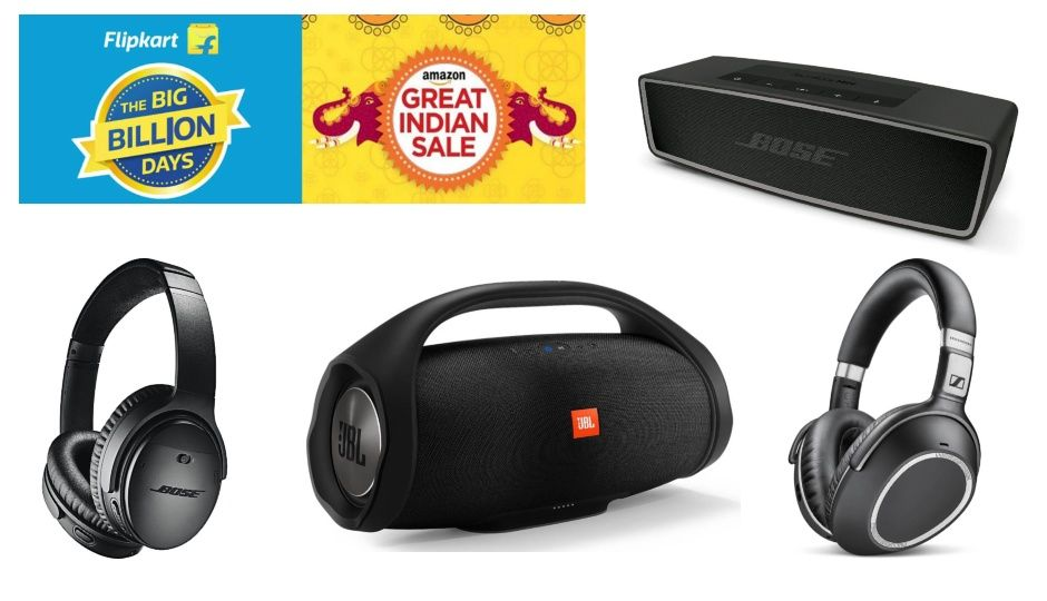 Amazon and Flipkart Festive Sale Day 3: Top five deals on headphones and speakers by Bose, Sennheiser, Sony, JBL, and Ultimate Ears
