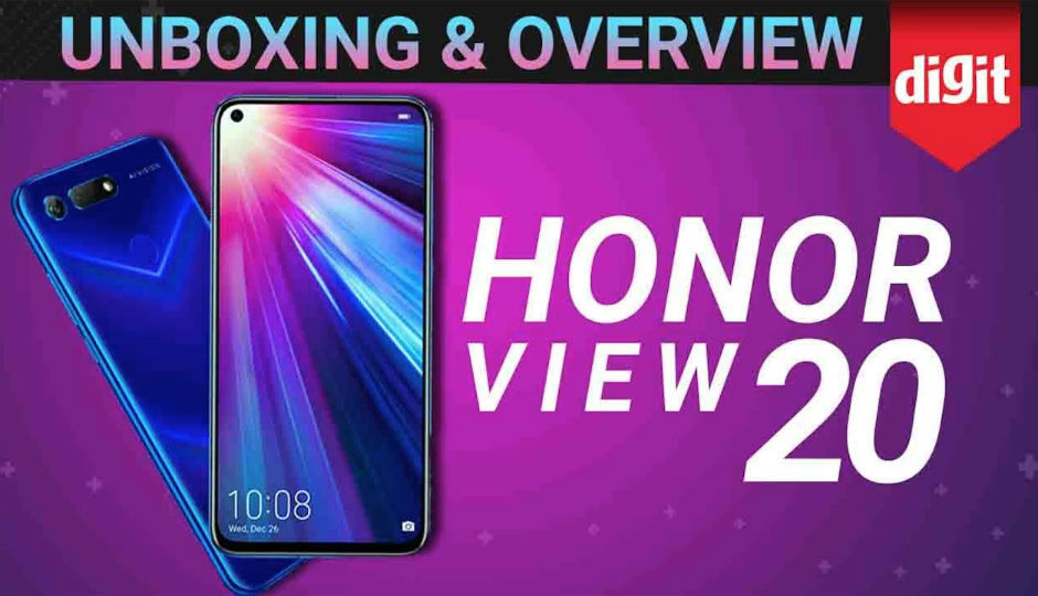 Unboxing and quick look at the Honor View 20