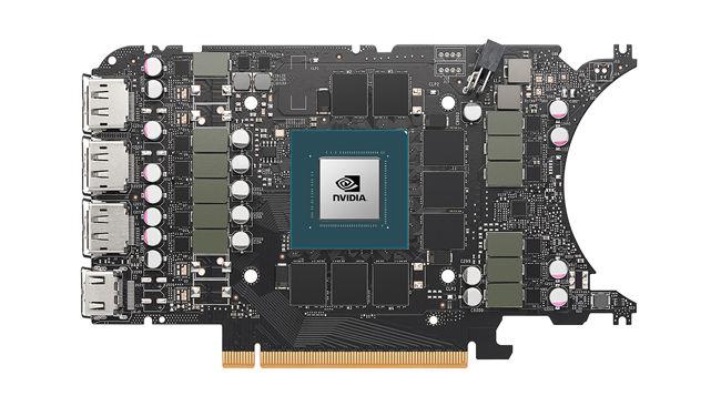 NVIDIA RTX 3080 Ti फाउंडर्स एडिशन पीसीबी फ्रंट से