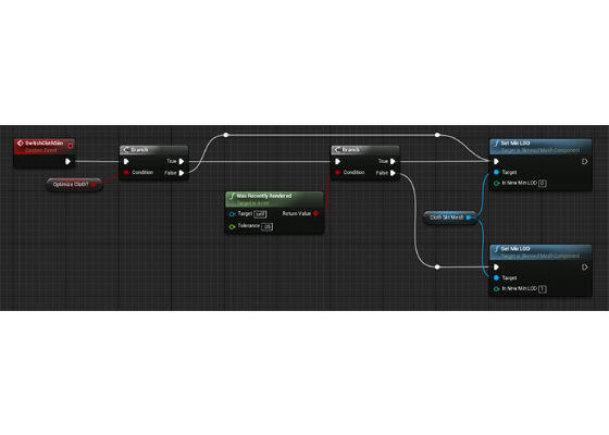 Unreal Engine 4: Blueprint CPU Optimizations for Cloth