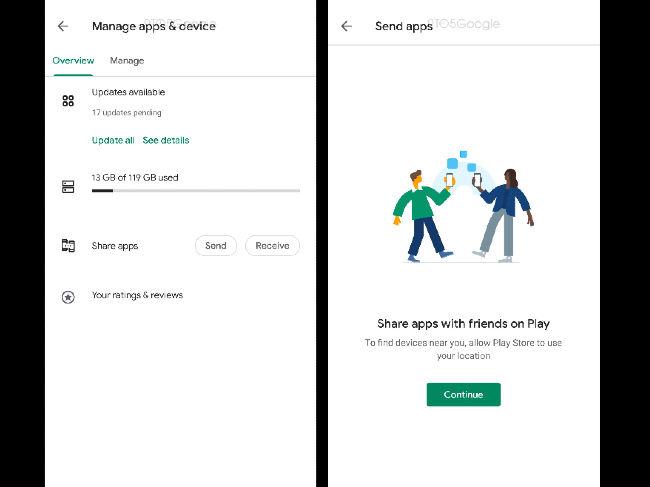 Google Play P2P app sharing teardown