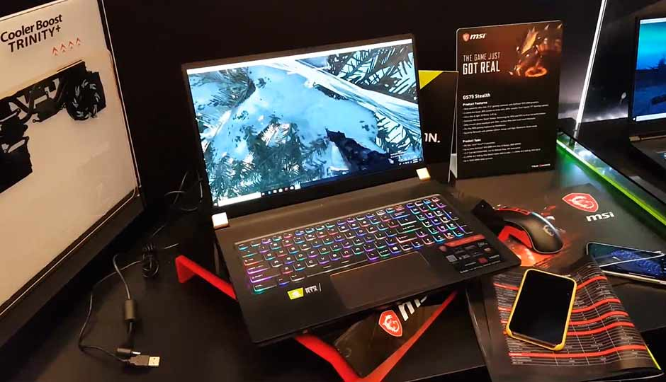 CES 2019: MSI GS75 STEALTH, a slim 17-inch gaming laptop with the all new RTX 2080 MAX-Q GPU