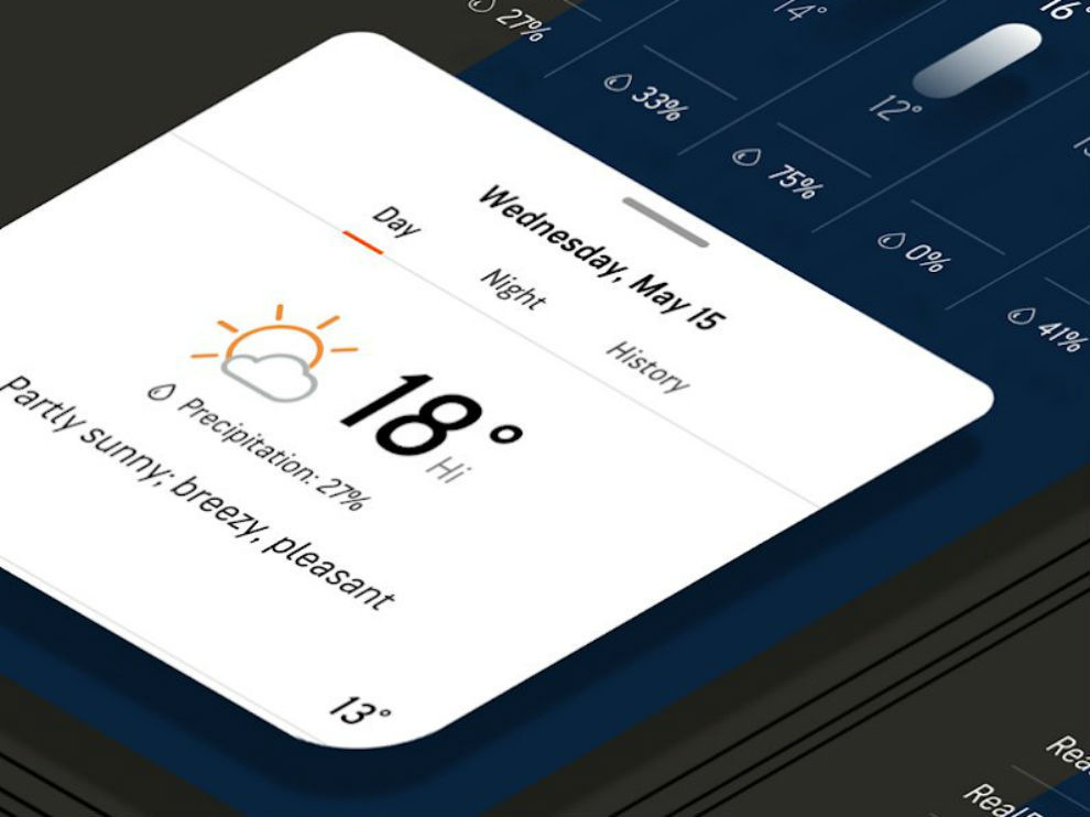 Accuweather give you information about the weather.