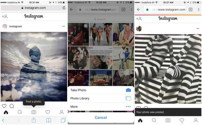 Instagram users can now post photos through any mobile