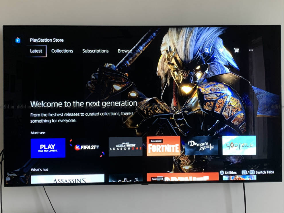 The PlayStation Store is integrated into the UI.