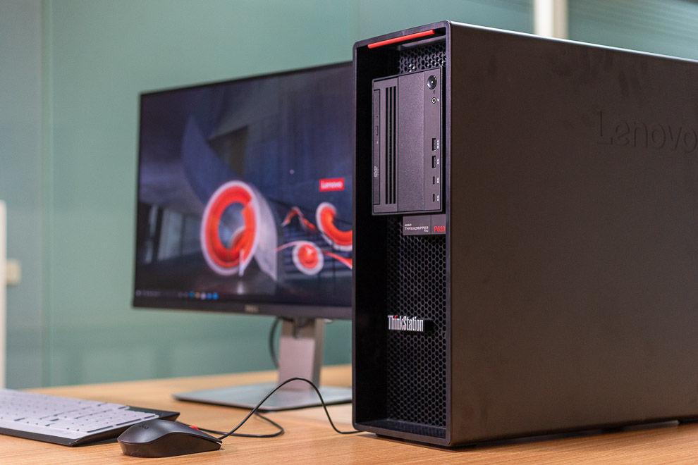 The Lenovo ThinkStation P620 is powered by the AMD Ryzen Threadripper Pro 3945WX