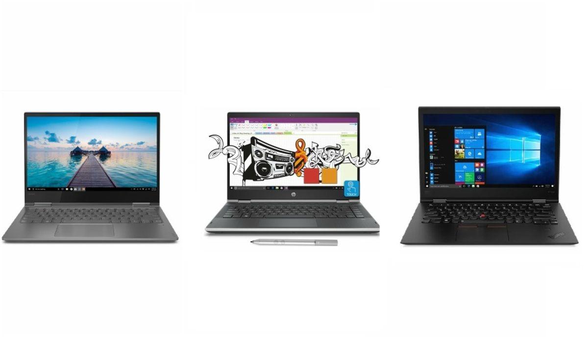 Convertible Laptops Comparo Lenovo Yoga 730 Vs Hp Pavilion X360 Vs Thinkpad X1 Yoga Digit