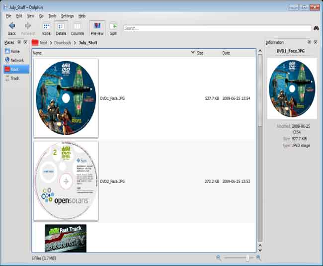 Windows KDE4: Dolphin (File Manager) | Digit