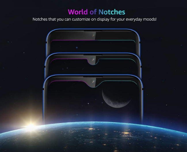 LG W30 customisable notch