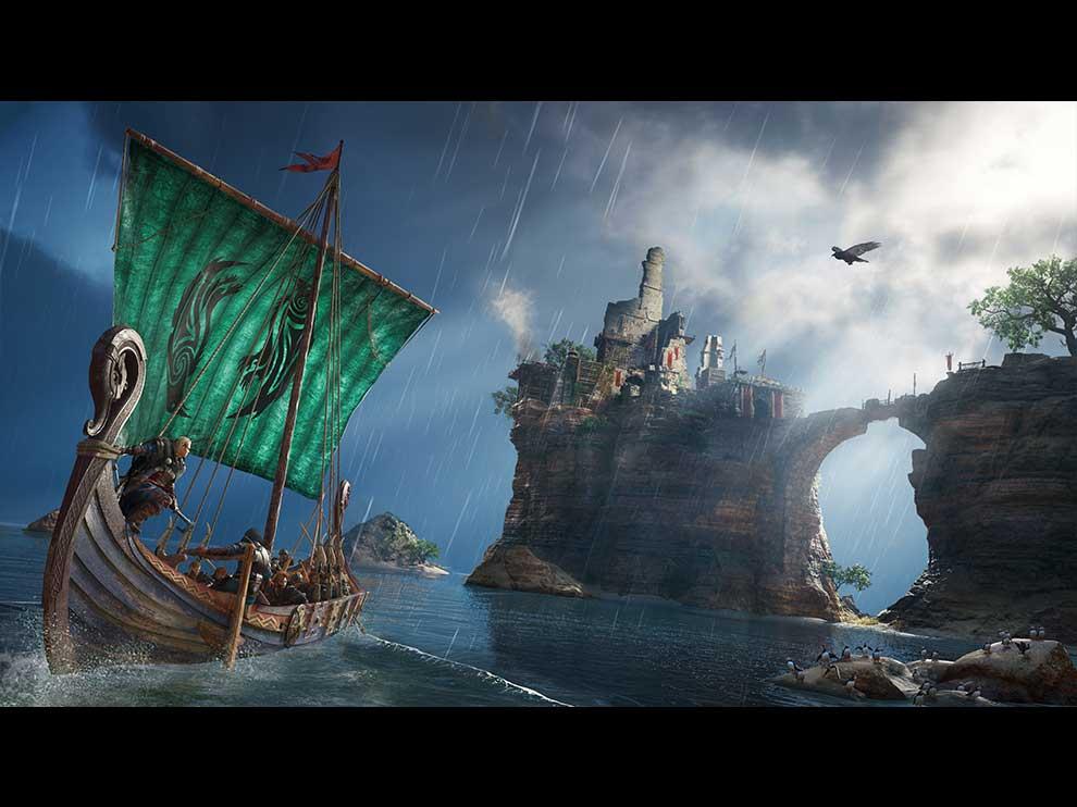 Assassin's Creed Valhalla sailing