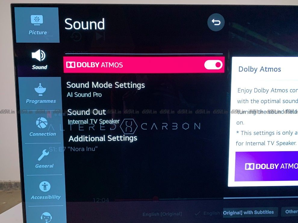 The LG CX supports Dolby Atmos.