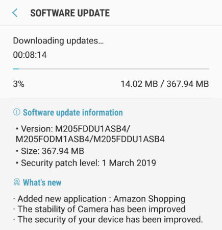 Samsung Galaxy M20 gets March Android security patch with latest