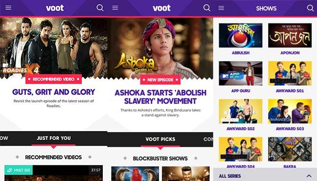 Image result for voot.com website