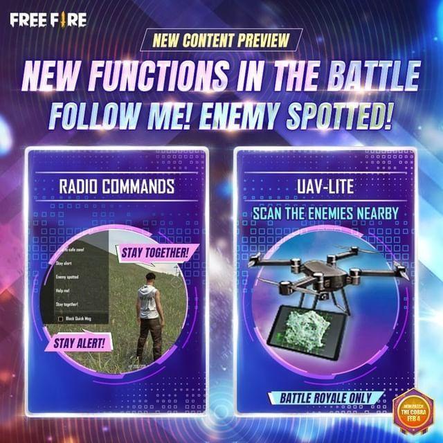 A atualização OB26 de Garena Free Fire apresentará novos elementos de jogabilidade