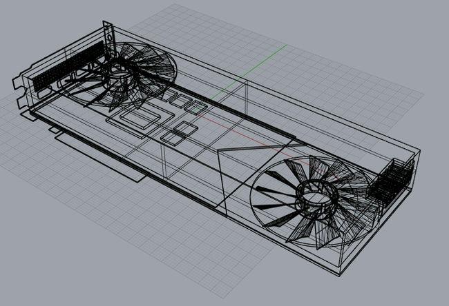 NVIDIA RTX 3080 3D Model