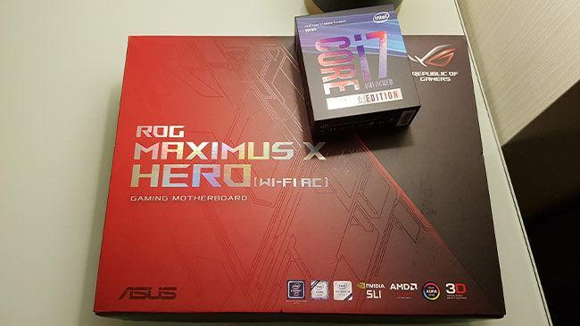 Intel Core i7-8086K ASUS MAXIMUS X HERO