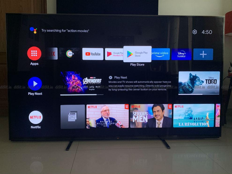 The Nokia media Streamer runs on Android TV UI.