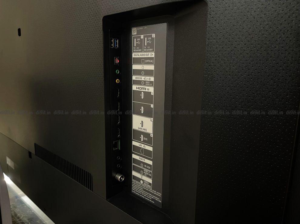 The Sony X80J has 4 HDMI ports and 2 USB ports.