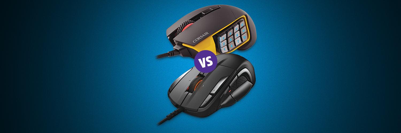 Comparison: Corsair Scimitar Pro RGB vs  SteelSeries Rival 500
