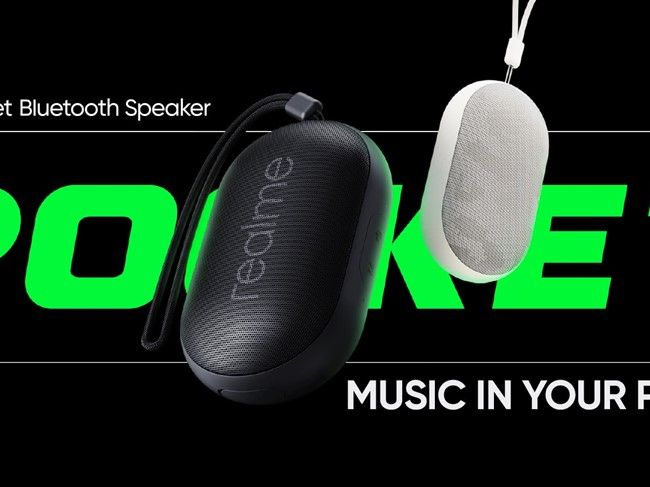 Realme Cobble and Pocket Bluetooth speakers have also been revealed