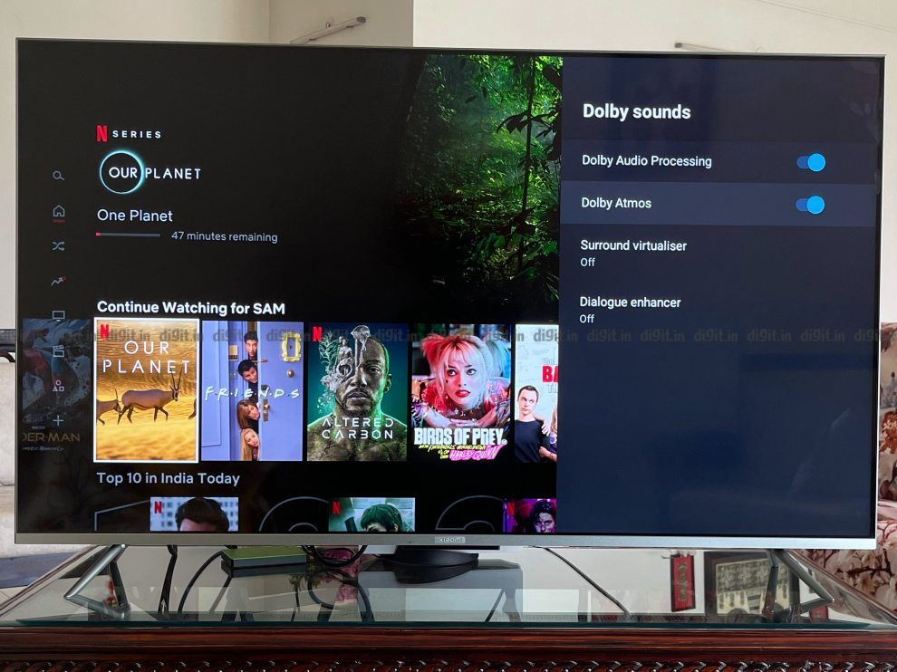 The Mi TV 5X supports Dolby Atmos