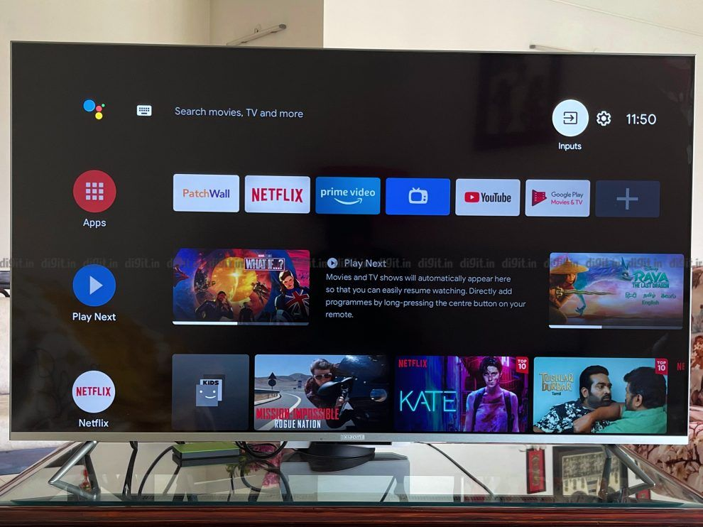 The Mi TV 5X runs on Android TV.