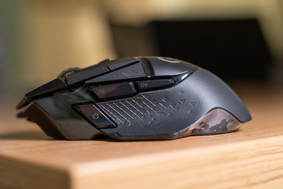Logitech G502 Lightspeed features 11 customisable buttons