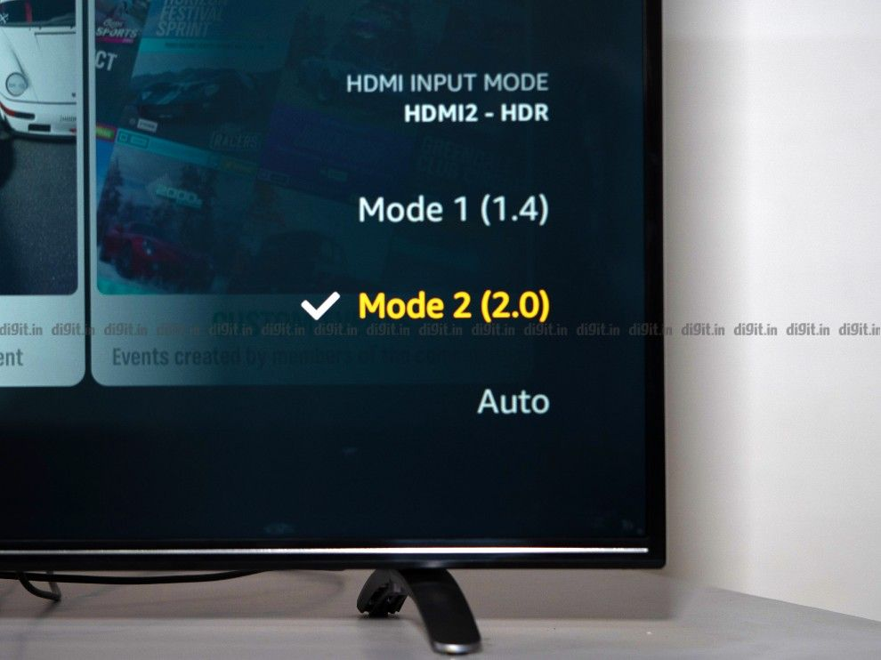 You can switch between HDMI 2.0 and 1.4 on the AmazonBasics 55-inch TV.