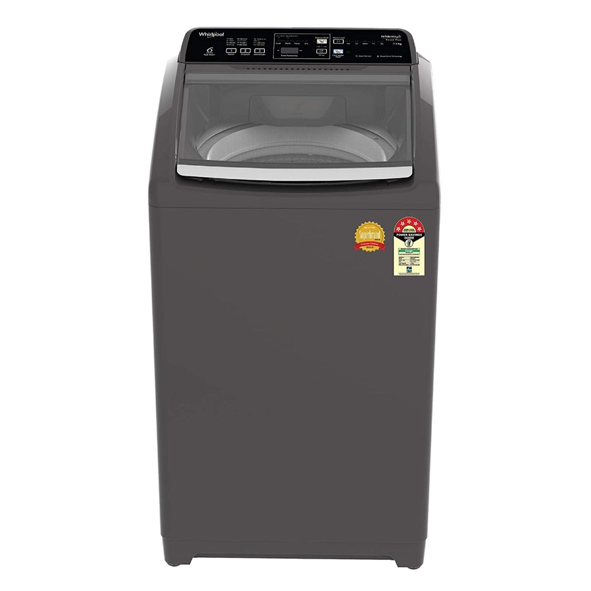Whirlpool 7.5 Kg 5 Star Fully-Automatic Top Loading Washing Machine (WM ROYAL PLUS 7.5 GREY 5YMW)