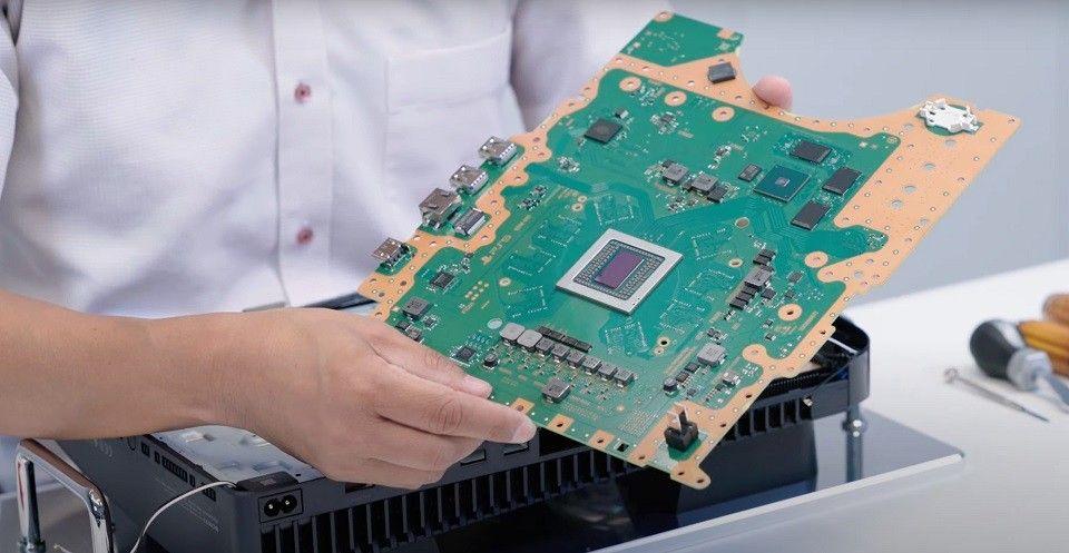 PS5 teardown motherboard, GPU, CPU, RAM