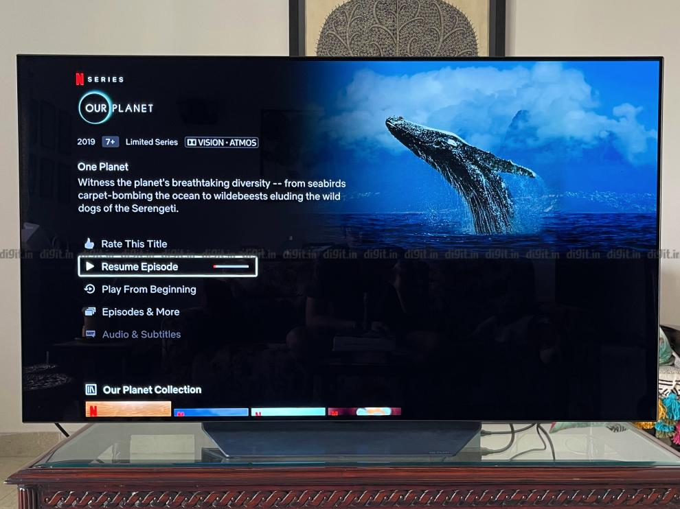 LG C1 supports Dolby Vision and Dolby Atmos.
