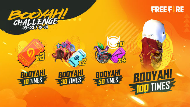 Garena Free Fire's Booyah Challenge will run from September 2 to September 30