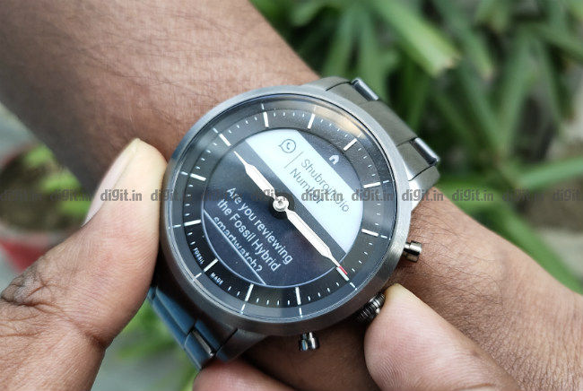 Fossil Hr Collider Hybrid Better For Formals Than For Fitness Digit