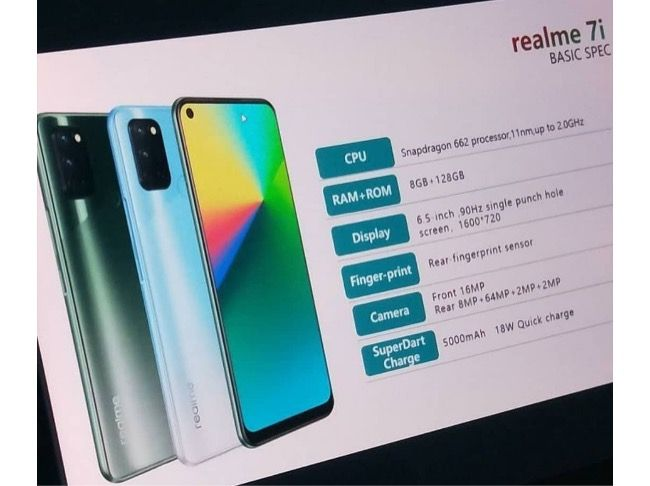 Realme 7i key specifications leaked ahead of launch