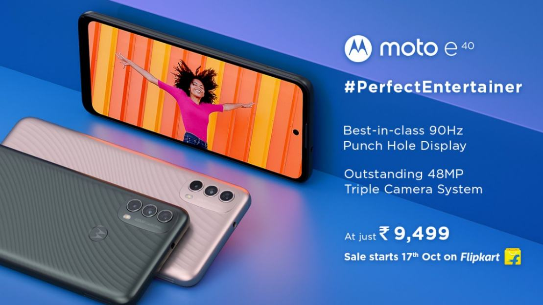Moto E40 with 65-inch HD+ display, 90Hz refresh rate launched in India at Rs 9,499