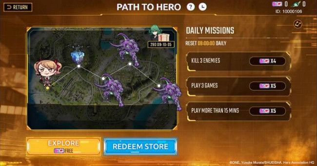 Caminho para evento da web Hero