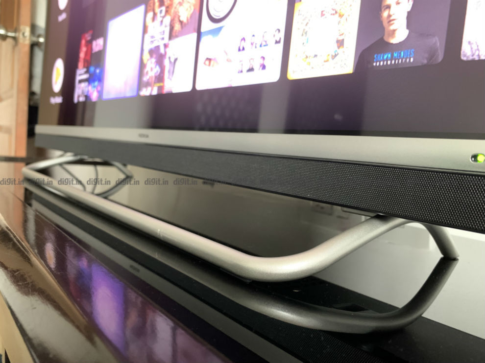 Nokia 43-inch TV comes with a unique looking stand.